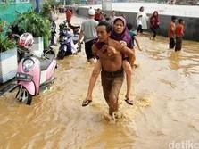Banjir Jakarta: 2 Meninggal, 53 KK & 248 Jiwa Masih Mengungsi