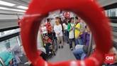 Merujuk data Bappenas, jumlah penyandang disabilitas di Indonesia, diperkirakan sekitar 15 persen dari jumlah penduduk, yakni 36 juta jiwa. Adapun di Jakarta, berdasarkan data dari Badan Pusat Statistik (BPS) DKI Jakarta, pada 2015 tercatat jumlah penyandang disabilitas di Ibu Kota mencapai 6.003 jiwa.(CNN Indonesia/Adhi Wicaksono)