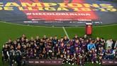 Ini menjadi modal positif bagi Barcelona yang tengah pekan mendatang akan menghadapi Liverpool di leg pertama semifinal Liga Champions. (LLUIS GENE AFP)