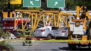 FOTO: Insiden Crane Maut di Proyek Google