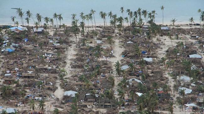 Bagian utara negara di Benua Afrika itu sudah lebih dulu dilanda angin kencang dan curah hujan tinggi. Kondisi itu mengakibatkan kerusakan dan banjir. (OCHA/Saviano Abreu/via REUTERS)