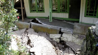 Tanggap Darurat Pergeseran Tanah Gunungbatu Sukabumi Dicabut