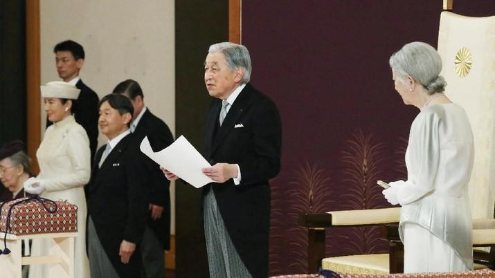 Turun Takhta, Kaisar Jepang Ucapkan Salam Perpisahan