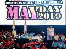 Prabowo Berpantun & Berpidato Berapi-api di Acara Hari Buruh