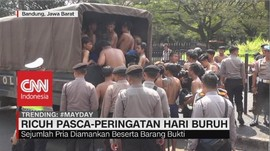 VIDEO: May Day, Massa Berkostum Hitam Bikin Ricuh di Bandung