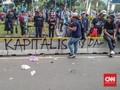 Polisi Usut Aksi Massa Berbaju Hitam Rusak Pagar Busway