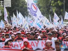 April 2019, Upah Buruh Cuma Naik Tipis