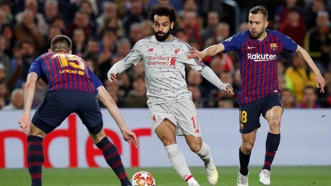 Liverpool tampil cukup apik ketika menjalani laga tandang, baik ketika menguasai bola maupun kehilangan bola. (REUTERS/Albert Gea)