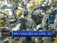 PMI China Bulan April Turun