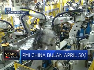 PMI China Bulan April Turun