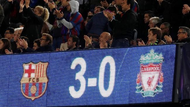 Skor 3-0 menjadi modal Barcelona untuk menjalani leg kedua semifinal yang akan berlangsung di Stadion Anfield. (Action Images via Reuters/John Sibley)