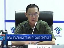 Realisasi Investasi Q1-2019 Rp 195,1 T