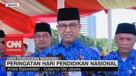 VIDEO: Gubernur DKI Anies Hadiri Upacara Hardiknas di Monas