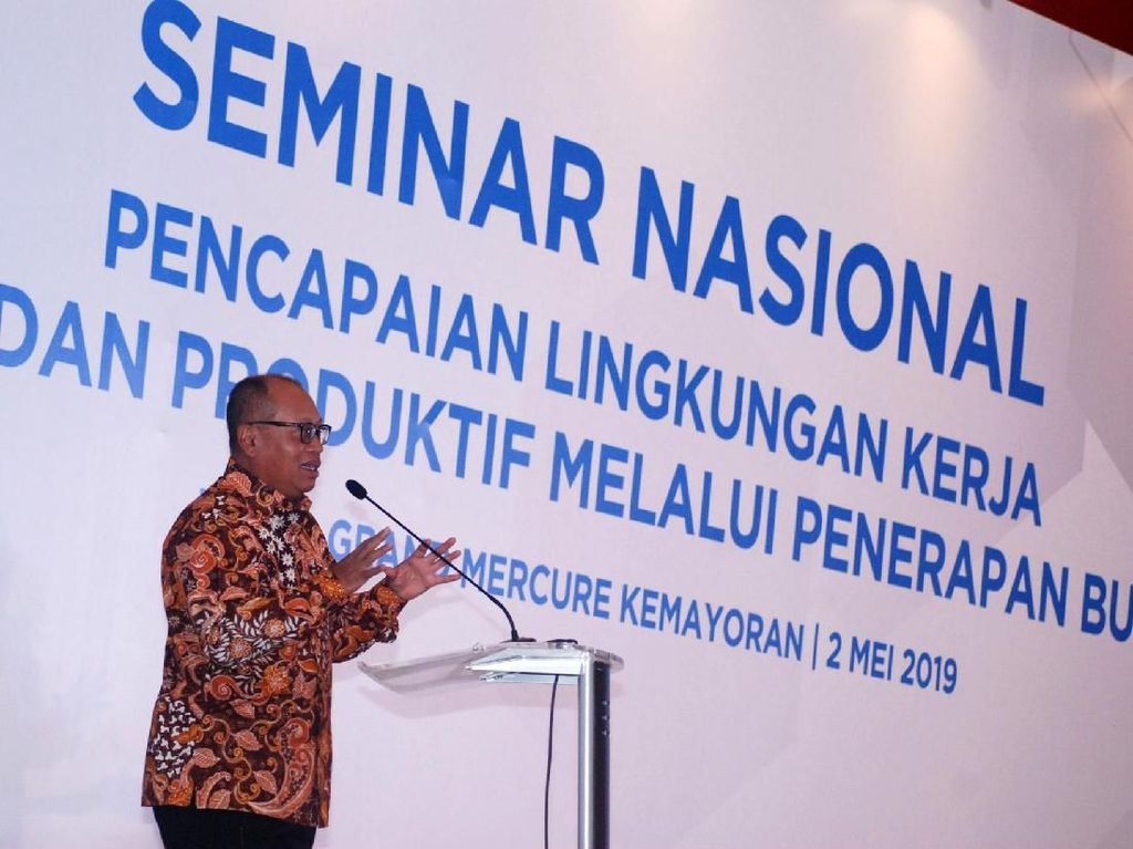 Direktur Utama BPJS TK Agus Susanto memberikan sambutan. Istimewa/BPJS TK.