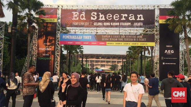 Pemeriksaan 7 Lapis untuk Masuk Konser Ed Sheeran di Jakarta