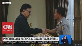 VIDEO: Penghargaan Bagi Polisi Gugur Tugas Pemilu