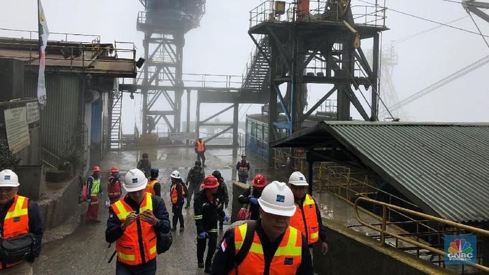 Progres pembangunan fasilitas pemurnian dan pengolahan (smelter) PT Freeport Indonesia hingga Februari 2019 baru 3,86%.