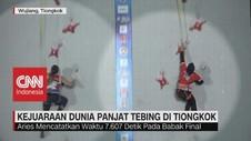 VIDEO: Aries Raih Perak di Kejuaraan Panjat Tebing Dunia