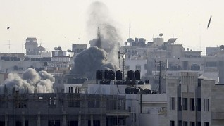 Balas Roket di Seminari Yahudi, Israel Serang Jalur Gaza