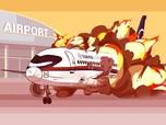 Ketika Pesawat Sukhoi Terbakar Saat Mendarat