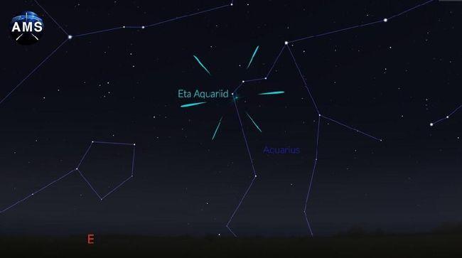 Hujan Meteor Eta Akuarid Hiasi Langit Saat Sahur Hari Kedua