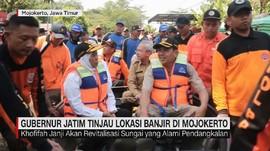 VIDEO: Gubernur Jatim Tinjau Lokasi Banjir di Mojokerto