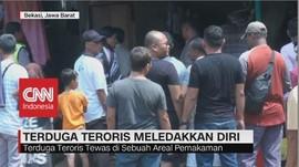 VIDEO: Saat Disergap Polisi, Terduga Teroris Meledakkan Diri