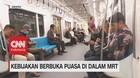 VIDEO: Buka Puasa di Dalam MRT, Warga Harus Patuhi Aturan