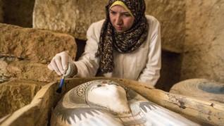 FOTO: Makam Kuno 45 Abad Ditemukan dekat Piramida Giza