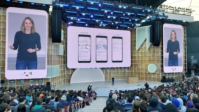 Di lini perangkat lunak, direktur senior Android, Stephanie Cuthbertsonmengungkap kemunculan Android Q yang dibekali fitur mode gelap (night mode) dan sejumlah pembaruan. (REUTERS/Paresh Dave)