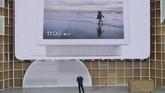 Google juga mengungkap kemunculan produk pendukung rumah pintar di bawah merek Nest yang merupakan re-branding Google Home.(AP Photo/Jeff Chiu)