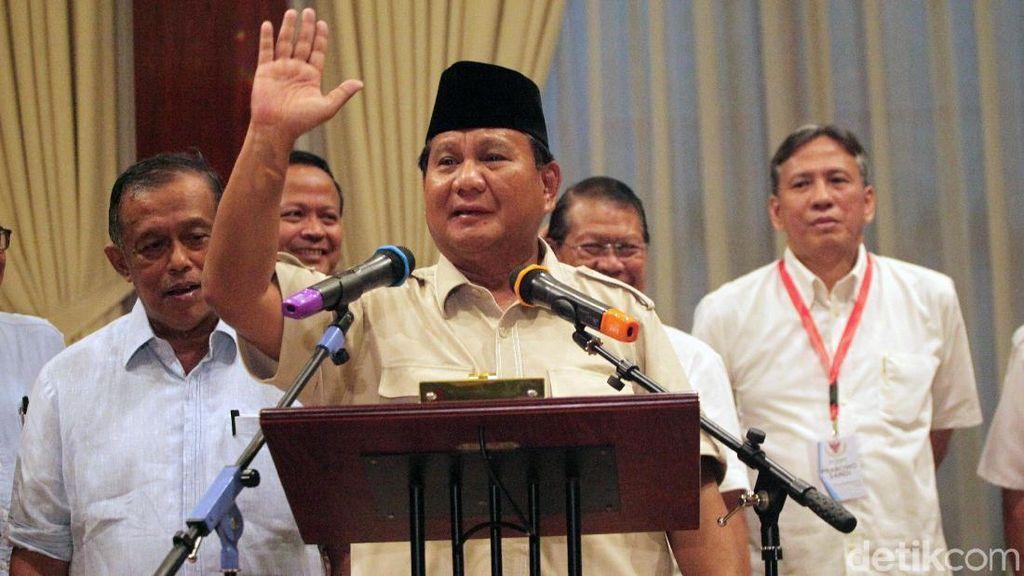 Ini Pidato Lengkap Prabowo Tolak Hasil Pilpres 2019