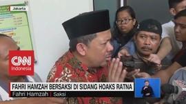 VIDEO: Fahri Hamzah Bersaksi di Sidang Hoaks Ratna
