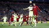 Liverpoolbermain efisien di laga ini dengan menciptakan empat gol meski Barcelona unggul penguasaan bola dengan 57 persen berbanding 43 persen. (Action Images via Reuters/Carl Recine)