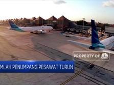 Penumpang Pesawat di Bandara AP I Mengalami Penurunan