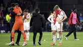Kekalahan dari Tottenham Hotspur membuat Ajax Amsterdam gagal memenangi delapan laga kandang terakhir di fase gugur Liga Champions dengan catatan empat imbang dan empat kali kalah. (REUTERS/Piroschka Van De Wouw)