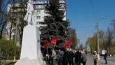 Perhelatan itu digelar di Red Square, Rusia, di mana militer akan berparade keliling kota. (Reuters/Maxim Shemetov)