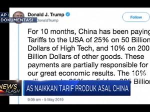 AS Resmi Naikkan Tariff Impor China jadi 25%
