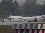 Tergelincir Saat Cuaca Buruk, Pesawat Jatuh & Lukai 17 Orang