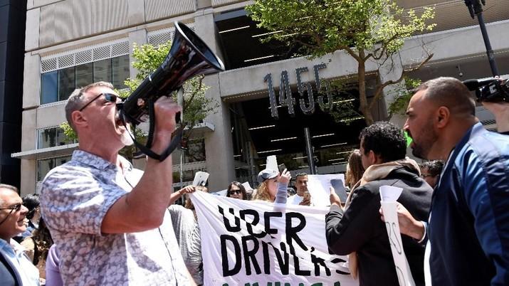 Sopir Uber Gelar Demo Jelang IPO, Ada Apa?