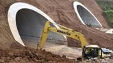 Investasi pembangunan jalan tol Cisamdawu mencapai Rp8,4 triliun. (ANTARA FOTO/Puspa Perwitasari)