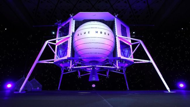 Bezos Luncurkan Proyek Pendaratan ke Bulan, Blue Moon
