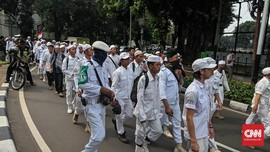 Massa FPI Bergerak, Gedung Bawaslu Dipagari Kawat Berduri