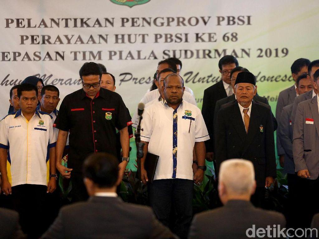 Delapan pengurus provinsi itu berasal dari Maluku Utara, Daerah Istimewa Yogyakarta, Sulawesi Barat, Kepulauan Riau, Nusa Tenggara Barat, Papua, Kepulauan Bangka Belitung dan Jambi.