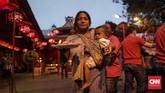 Pengurus yayasan menyebut kebanyakan peserta merupakan kaum dhuafa yang tinggal di sekitar vihara. (CNN Indonesia/Adhi Wicaksono)