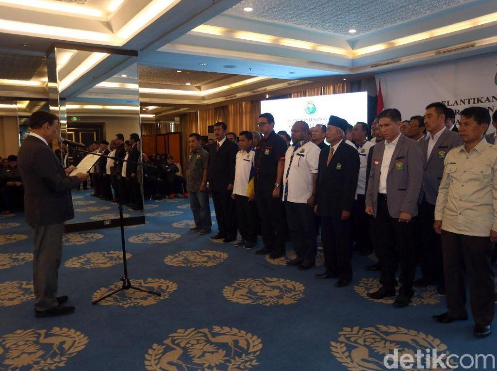 Dalam acara tersebut Wiranto juga melantik delapan pengurus provinsi yang telah memilih jajaran kepengurusan baru.