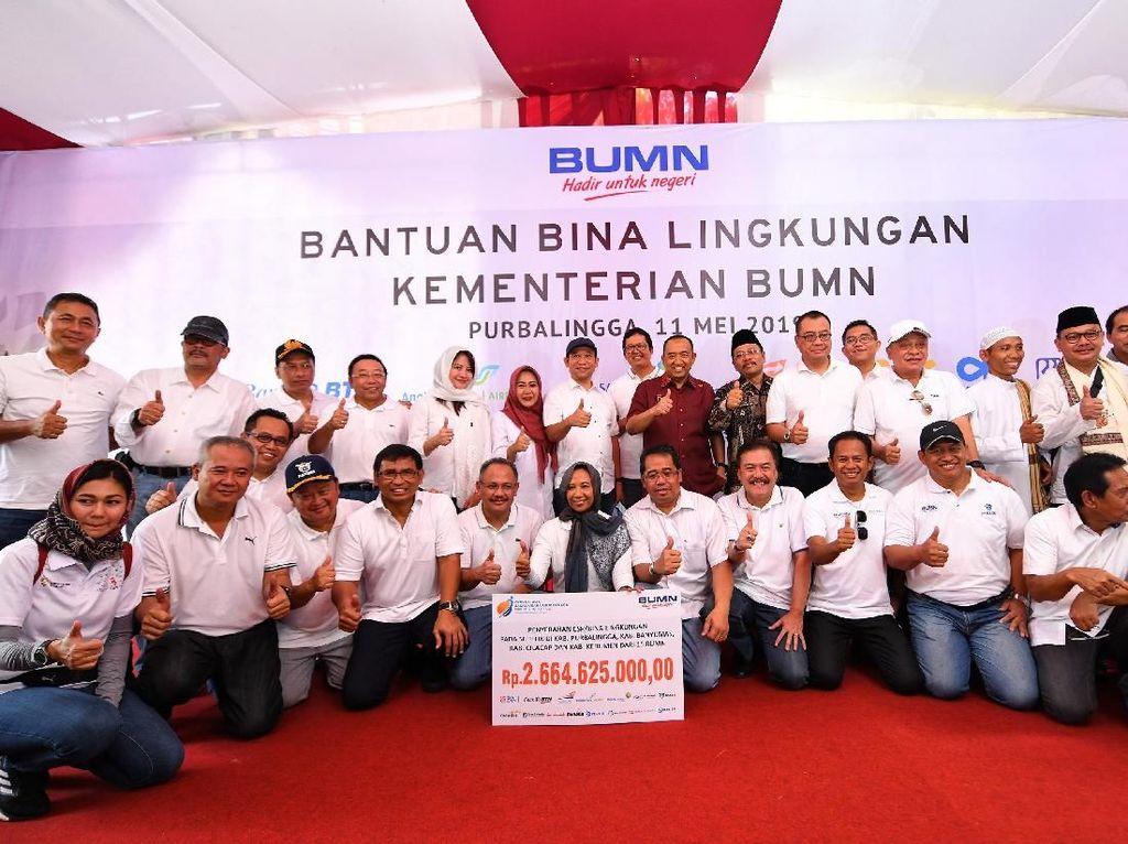 BTN bersama BUMN lainnya turut mendukung dengan menyiapkan dana Rp 557.390.000 untuk masyarakat Banyumas dan Rp 1 miliaruntuk masyarakat Purbalingga yang akan dimanfaatkan untuk perbaikan sarana ibadah dan kegiatan sosial lainnya.
