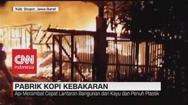 VIDEO: Pabrik Kopi di Bogor Terbakar Diduga Korsleting Mesin