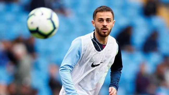 Gelandang Manchester City, Bernardo Silva, jadi kunci kemenangan bagi The Citizens di lini tengah. (Reuters/Jason Cairnduff)