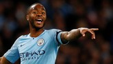 Penyerang Manchester City Raheem Sterling sosok perusak pertahanan lawan. Ia mengoleksi 17 gol dan 10 assist di Liga Inggris 2018/2019. (Reuters/Jason Cairnduff)